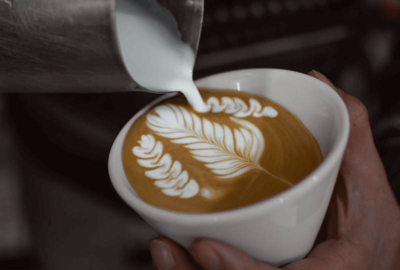 latte art การวาดฟองนม